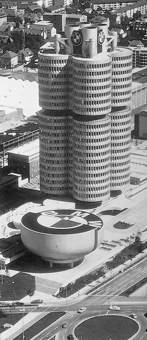 1972 BMW office building in Munich, Germany